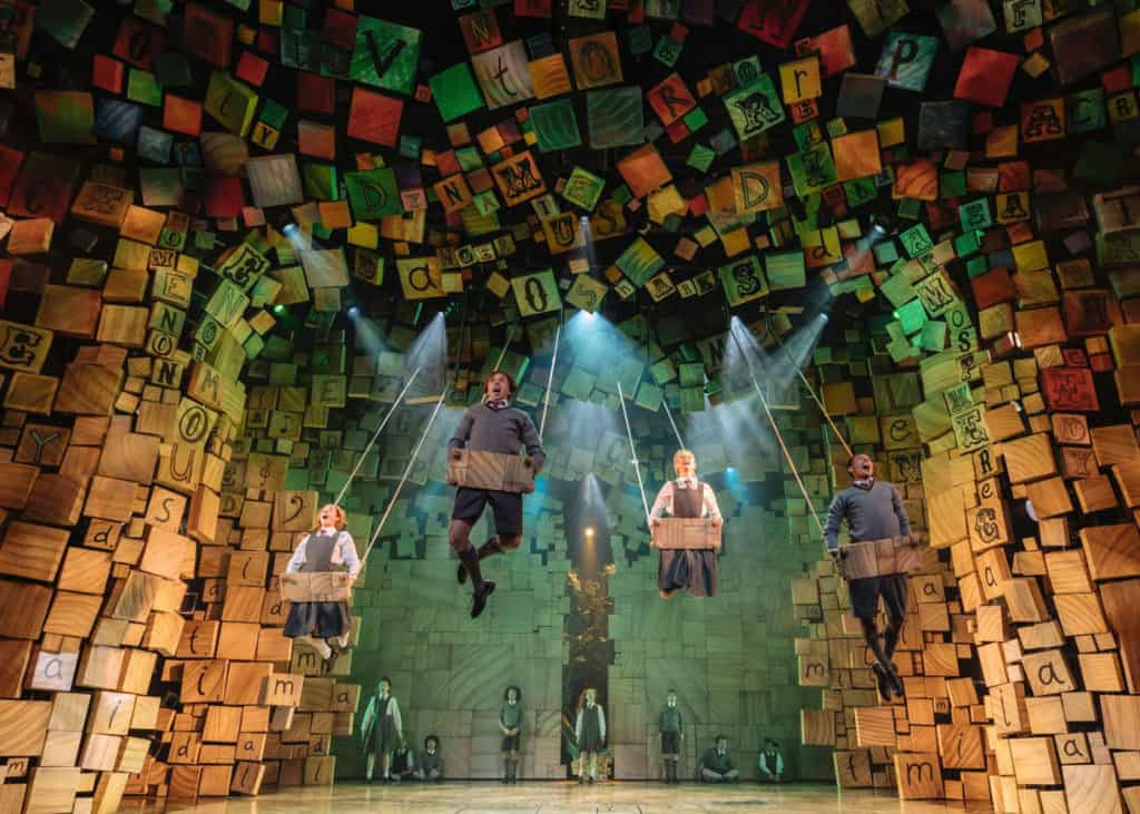 Production shot of Matilda The Musical