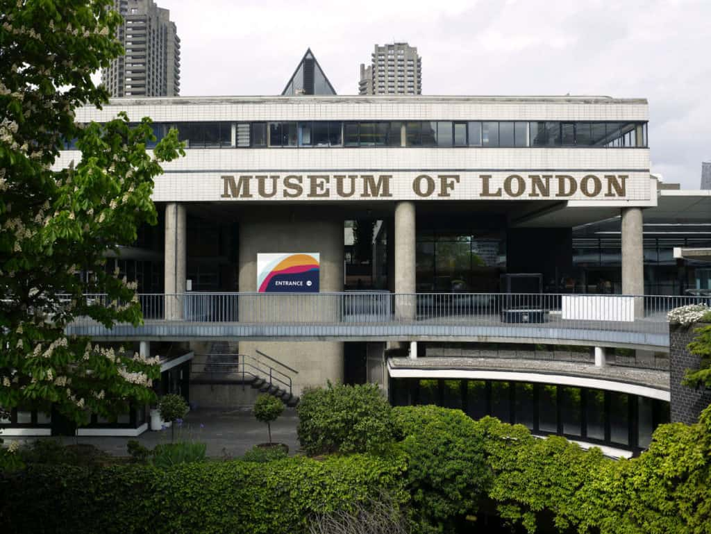 Outside of the Museum of London