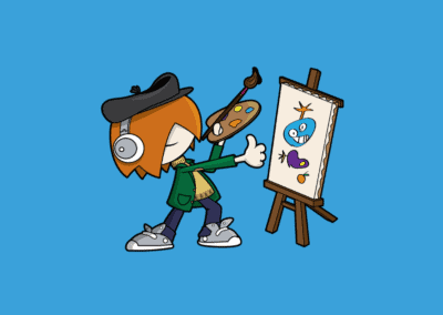 KidZania At Home Main Image - animated person painting