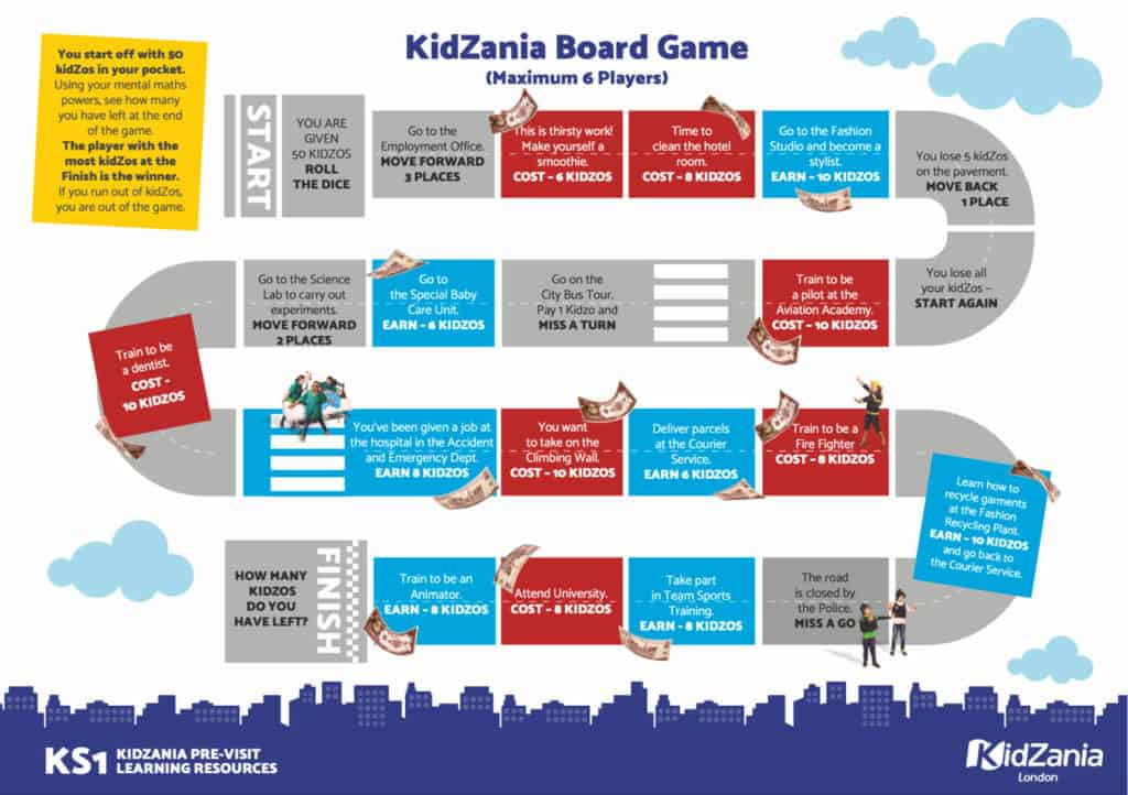 KidZania Board Game