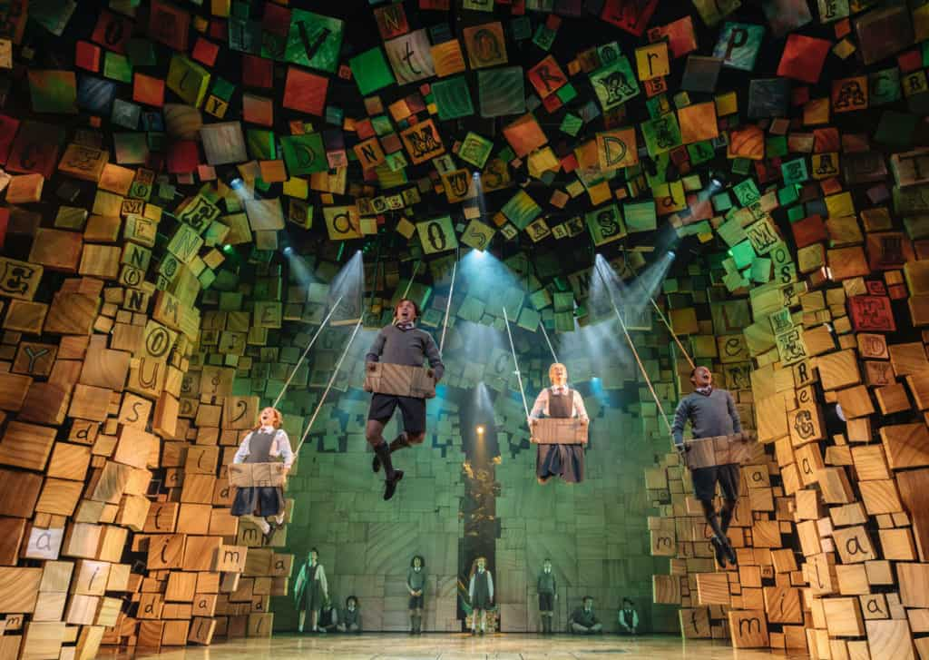 Production shot the the RSC's Matilda The Musical