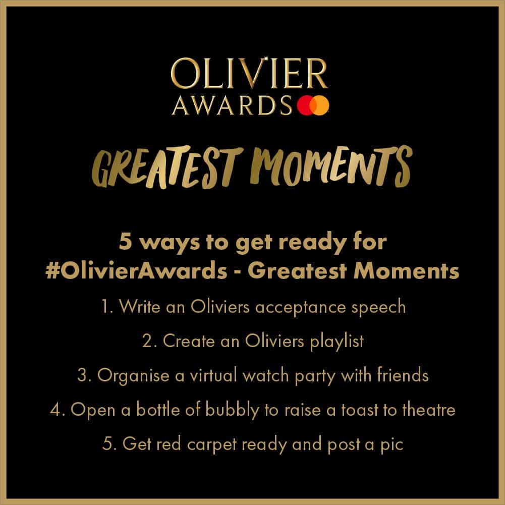 5 ways to get ready for the 2020 Olivier Awards