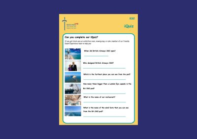 British Airways i360 Key Stage 2 Question Sheet Teaching Resource Profile Image