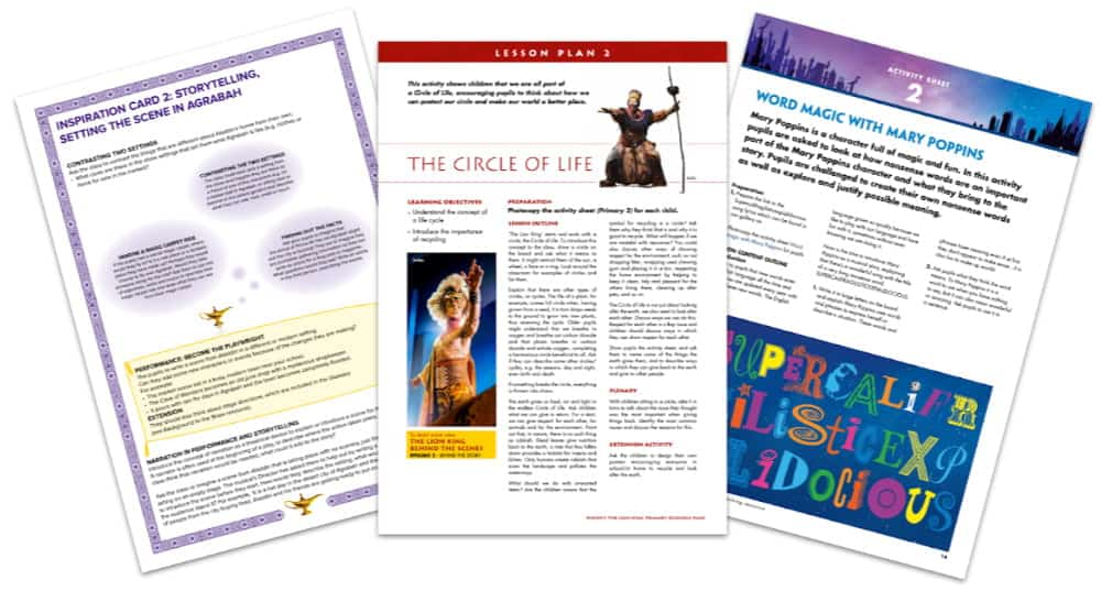 Disney Theatrical Teaching Resources from The Lion King, Mary Poppins and Aladdin