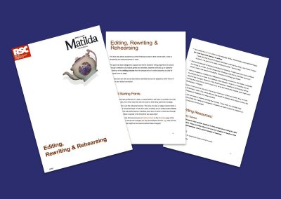 Matilda The Musical Editing, Rewriting & Rehearsing Teaching Resource Profile Image