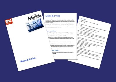 Matilda The Musical Music & Lyrics Teaching Resource Profile Image