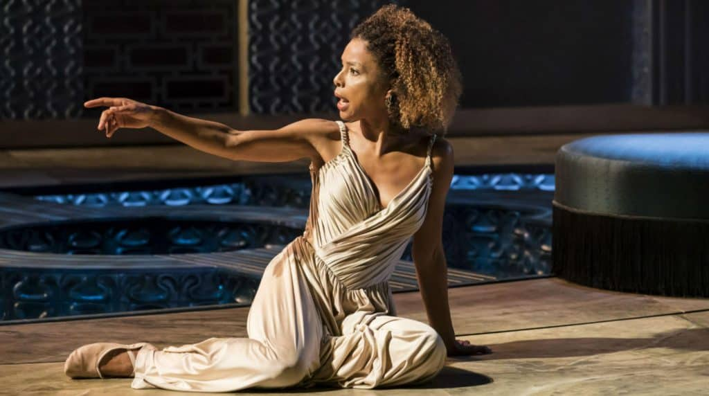 Production shot from the National Theatre At Home production of Antony & Cleopatra
