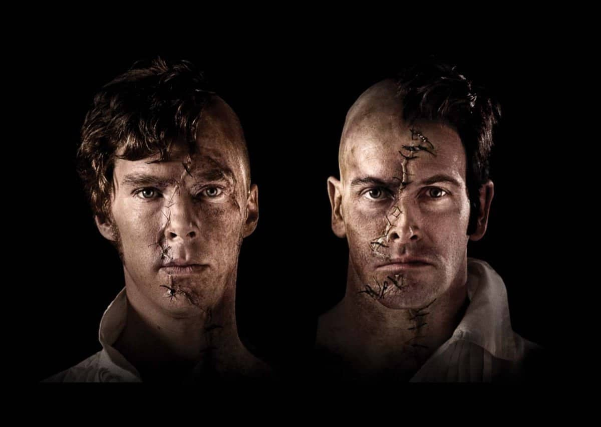 Benedict Cumberbatch and Jonny Lee Miller in the National Theatre's National Theatre At Home Frankenstein