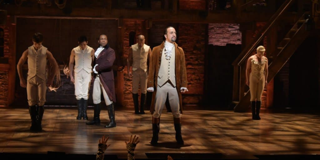 Hamilton playing on Disney+ to make a virtual school trip to the theatre