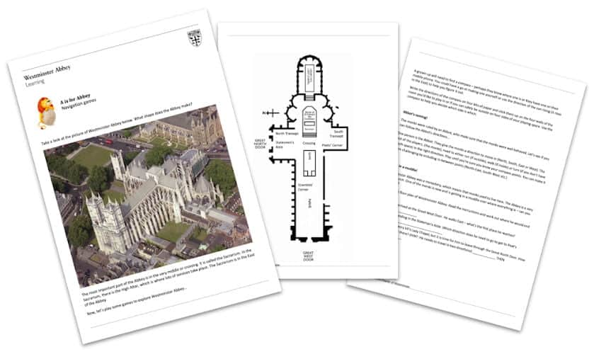 A is for Abbey education pack - part of the A to Z free Westminster Abbey Teaching Resources