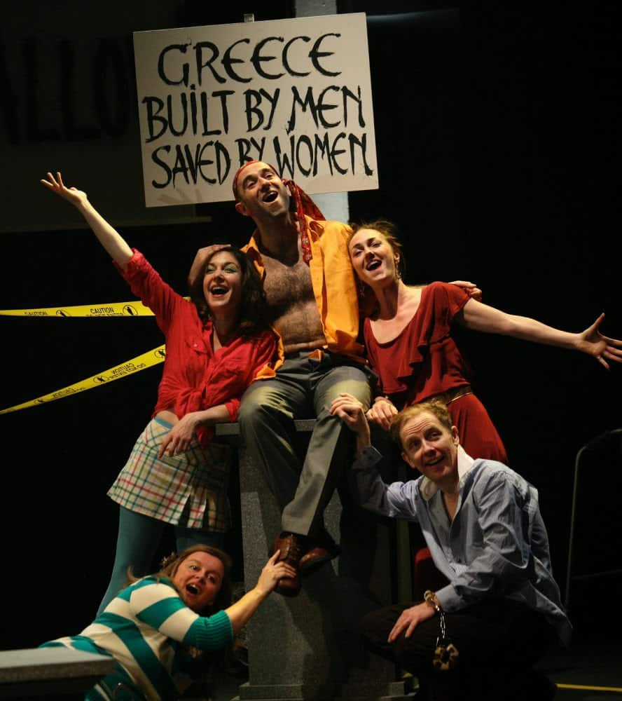 Production shot from Actors of Dionysus (aod)'s production of Lysistrata