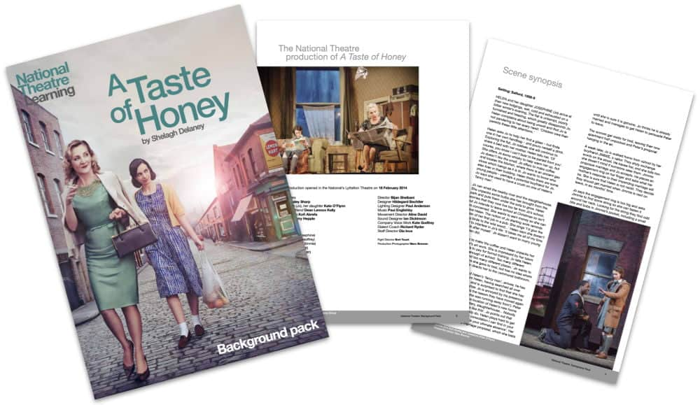 National Theatre Teaching Resources A Taste of Honey Education Pack Image