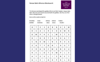 The Roman Baths' Minerva Wordsearch