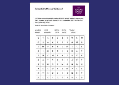 The Roman Baths' Minerva Wordsearch Resource