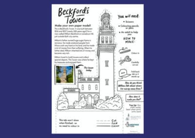 Beckford's Tower's Easy Tower Papercraft Resource