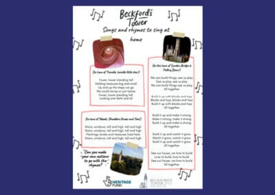 Beckford's Tower's Songs and Rhymes to Sing at Home Resource
