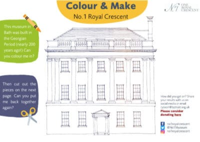 No. 1 Royal Crescent Colouring and Making Sheet Resource