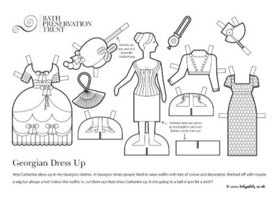 No.1 Royal Crescent Georgian Paper's Dress up Dolls Resource