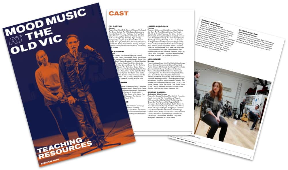 The Old Vic Mood Music Teaching Resources Education Pack Image