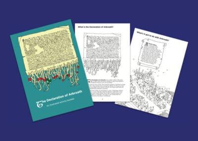 Historic Environment Scotland's Declaration of Arbroath Activity Booklet Resource