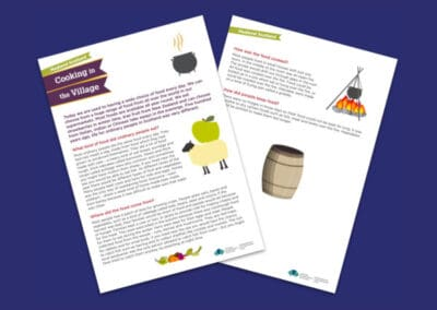 Historic Environment Scotland's Investigating Castle Life – Cooking in the Village Resource