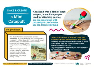 Historic Environment Scotland's Make a Mini Catapult with Craft Knight Video Resource