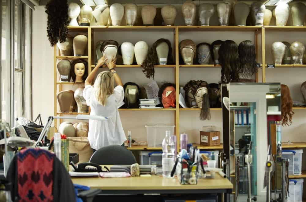 National Theatre Online Exhibitions image with past production wigs