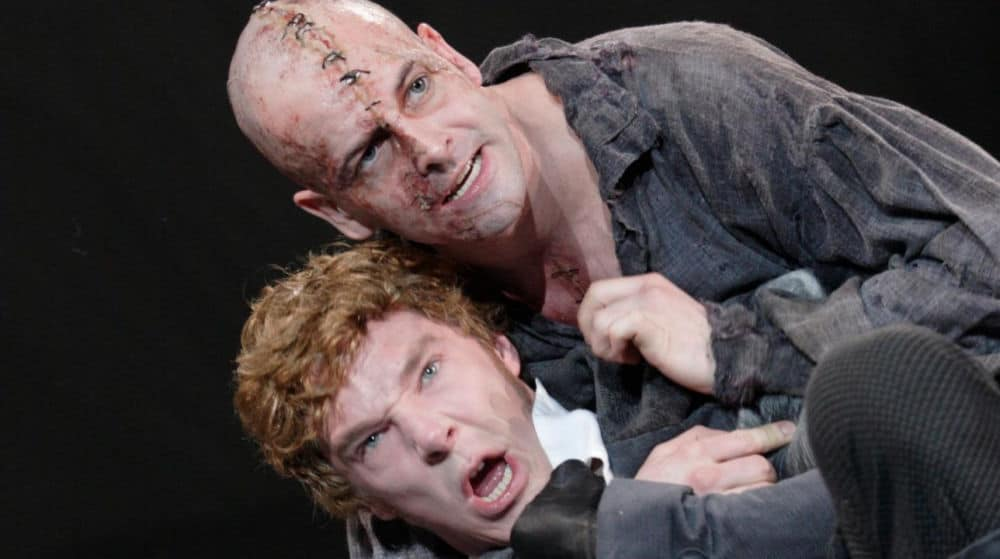 Production shot from the National Theatres Frankenstein on The National Theatre Collection