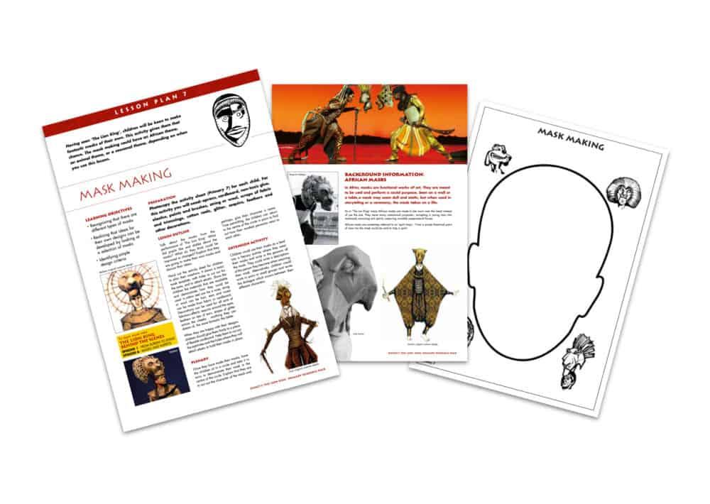 Disneys The Lion King Mask Making Teaching Resource White Background