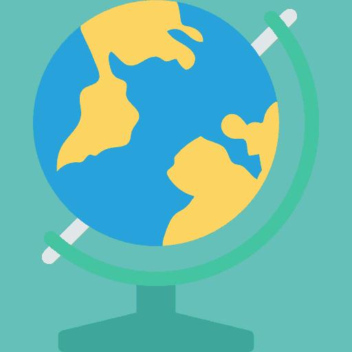 geography school trip icon